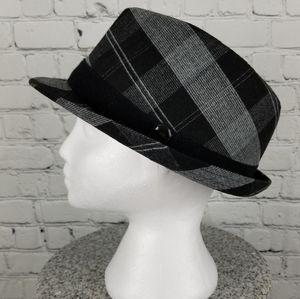 PAMOA   plaid fedora hat